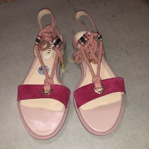 Ted Baker Moyaa Suede Rope Tie Sandals Sz 9.5 new
